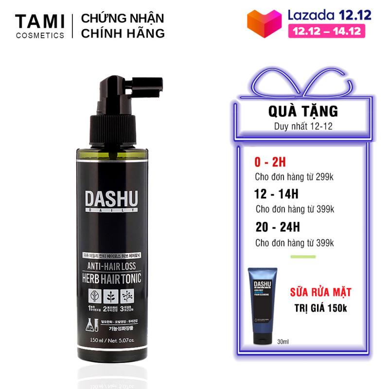 Xịt dưỡng tóc DASHU daily anti-hairloss herb hair tonic 150ML phục hồi hư tổn, ngăn rụng tóc dưỡng tóc nam nữ TM-XT03