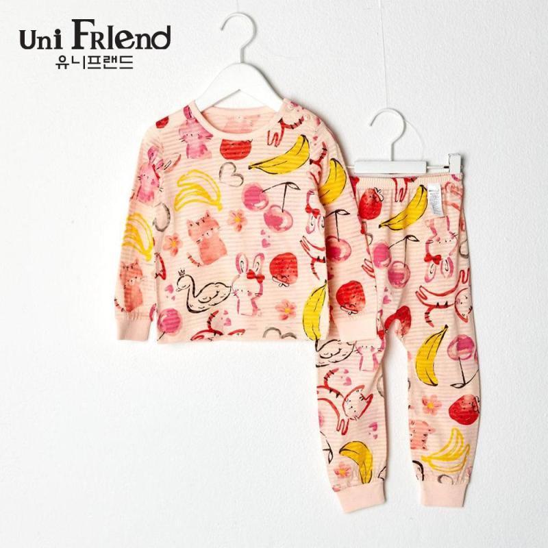 Nơi bán Đồ bộ mặc nhà bé gái Unifriend thun dài họa tiết đáng yêu U9SSTD11