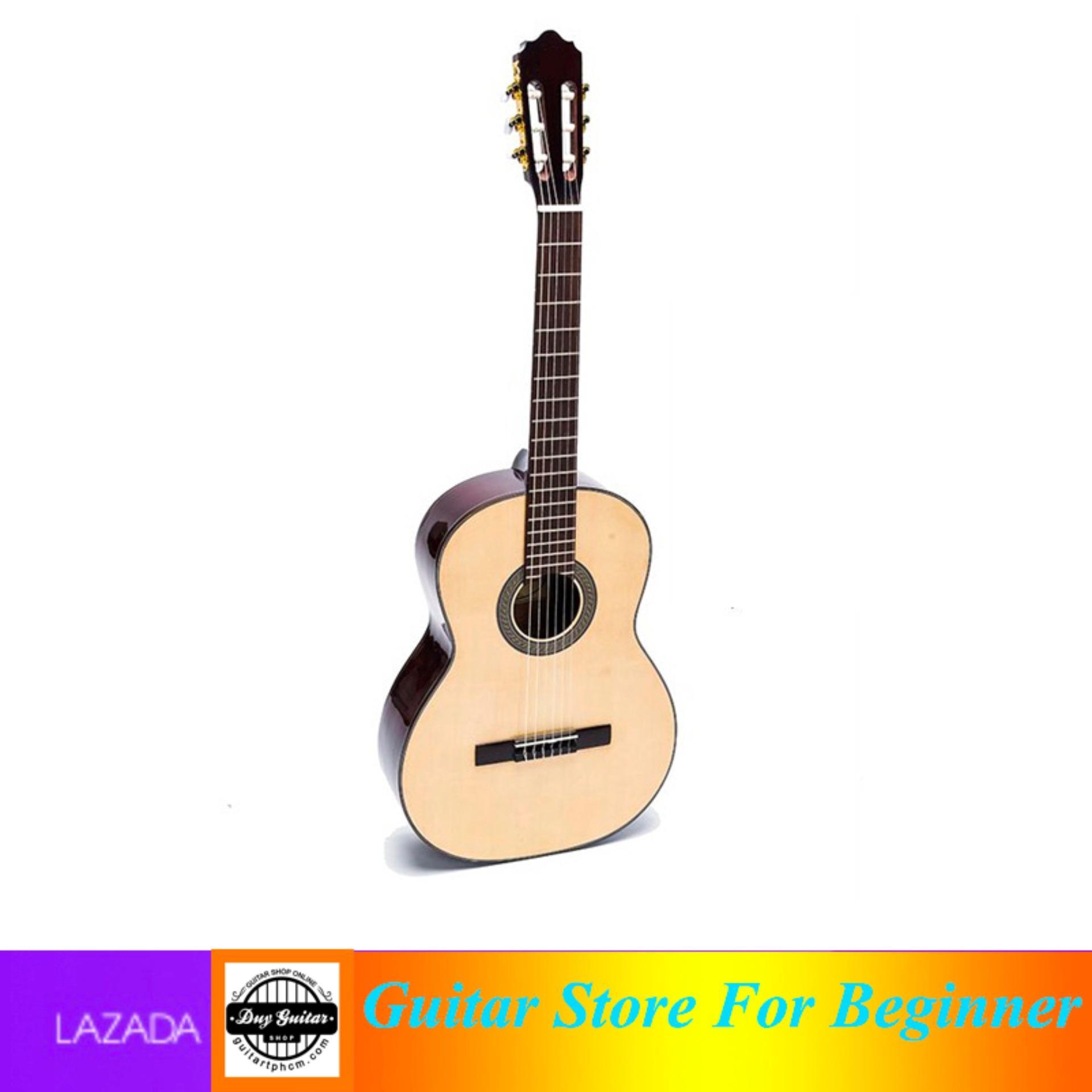 Đàn Guitar Classic guitar Việt Nam DC150 (gỗ) + Tặng bao đàn bộ dây phím gải và sách - Shop Duy Guitar Chuyên đàn guitar giá tốt dành cho người mới tập