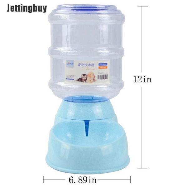 Bình đựng thức ăn và nước Jettingbuy 3.8l tự động tiện dụng cho thú cưng - INTL