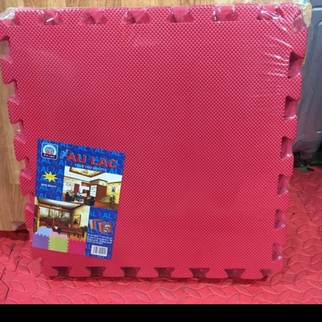 Hình ảnh thảm xốp ghép 1 màu hồng