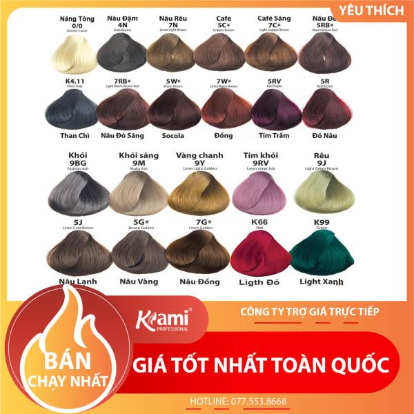 (GIÁ SỈ) Thuốc nhuộm tóc thông minh KAMI tự động cân bằng, phủ bạc đủ 22 mã màu thời trang - hương socola chính hãng (KHÔNG KÈM TRỢ NHUỘM OXI)