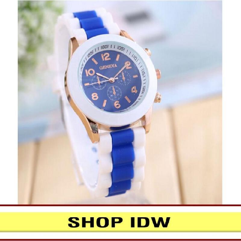 [Có video quay thật] Đồng hồ nữ dây silicon thời trang Geneva IDW 8291 (Nhiều màu lựa chọn)
