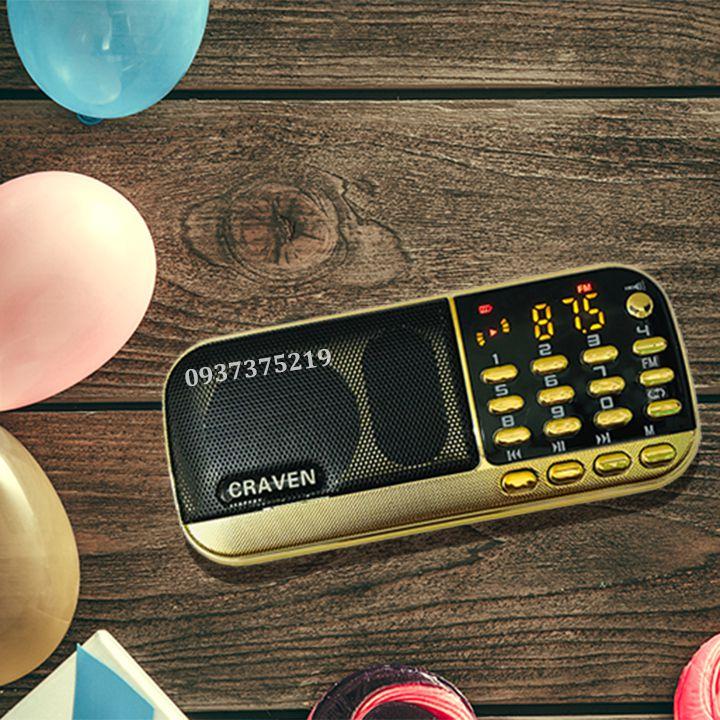 [Tặng Sạc]Loa Craven CR-836S Thẻ Nhớ USB Mẫu Mới Kèm Thẻ Nhớ Đủ Dung Lượng Giá Hot Siêu Giảm tại Lazada