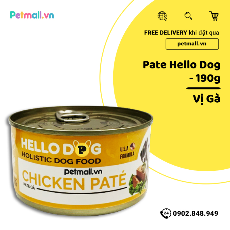Pate chó HelloDog Chicken 190g