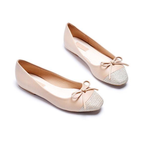 [Form lớn giảm 1 size] Giày búp bê mũi vuông Merly 1202 giá rẻ