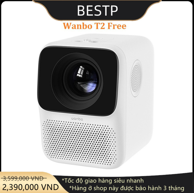 Bảng giá [CHÍNH HÃNG] Máy chiếu mini Xiaomi Wanbo T2 Free. Full HD 1080p .120 inch