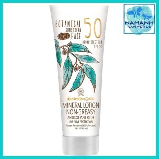 Kem chống nắng không nhờn, chống trôi Australian Gold Botanical Sunscreen Tinted Face Mineral Lotion SPF 50 89ml thumbnail