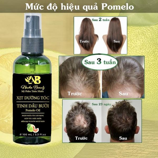BỘ 2 CHAI Tinh dầu bưởi dưỡng tóc dạng xịt Pomelo 100ml , giải pháp các vấn đề về tóc