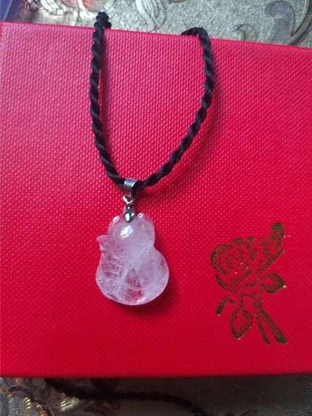 Mặt dây chuyền hồ ly (tặng kèm hộp đựng trang sức, dây đeo màu đen)