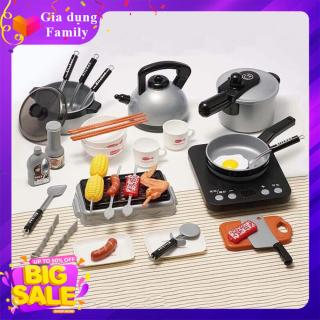 Đồ chơi nấu ăn Kitchen 36 món, chất liệu an toàn cho bé thumbnail