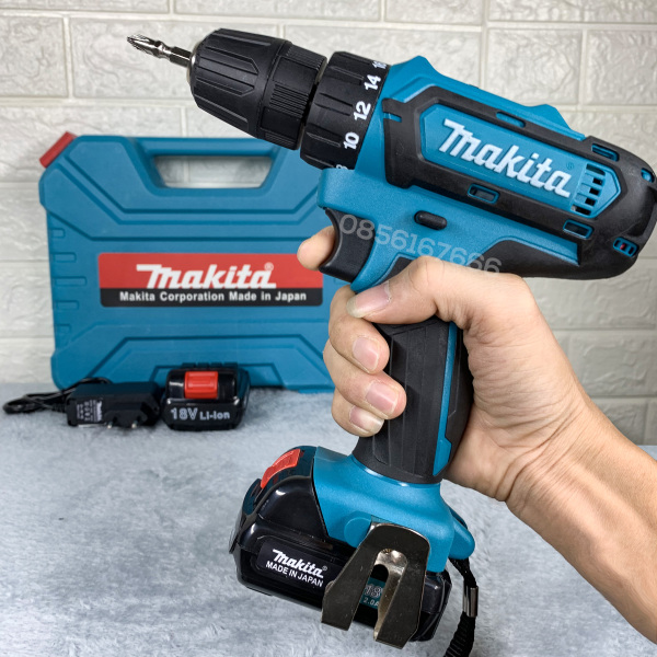 Máy bắt vít PIN cầm tay MAKITA 18v  - máy khoan MAKITA 18V - máy bắn tôn - máy khoan gỗ -  khoan sắt - máy khoan 18V