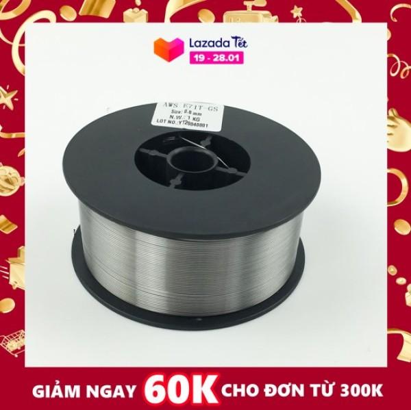 [Sỉ] - Cuộn Dây Hàn Mig Không Dùng Khí AWS E71T-GS.Dây Hàn 1kg cỡ dây 0.8mm (tốt)