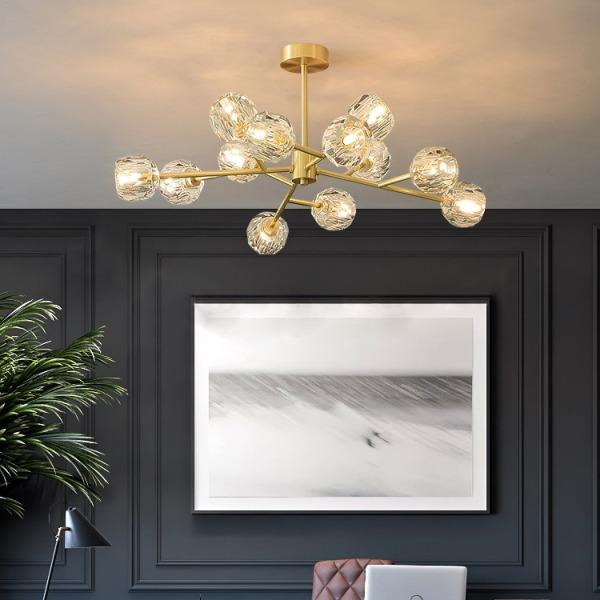 Đèn chùm pha lê MONSKY ZONET kiểu dáng hiện đại trang trí nội thất sang trọng.