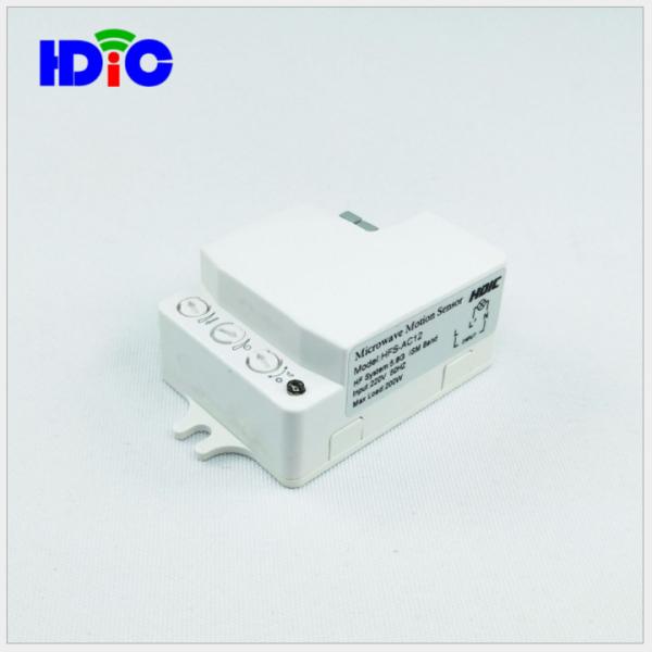 Công tắc cảm ứng vi sóng 5.8GHZ bật tắt đèn khi có người qua-cảm biến xuyên tường, nhựa, kính mỏng: