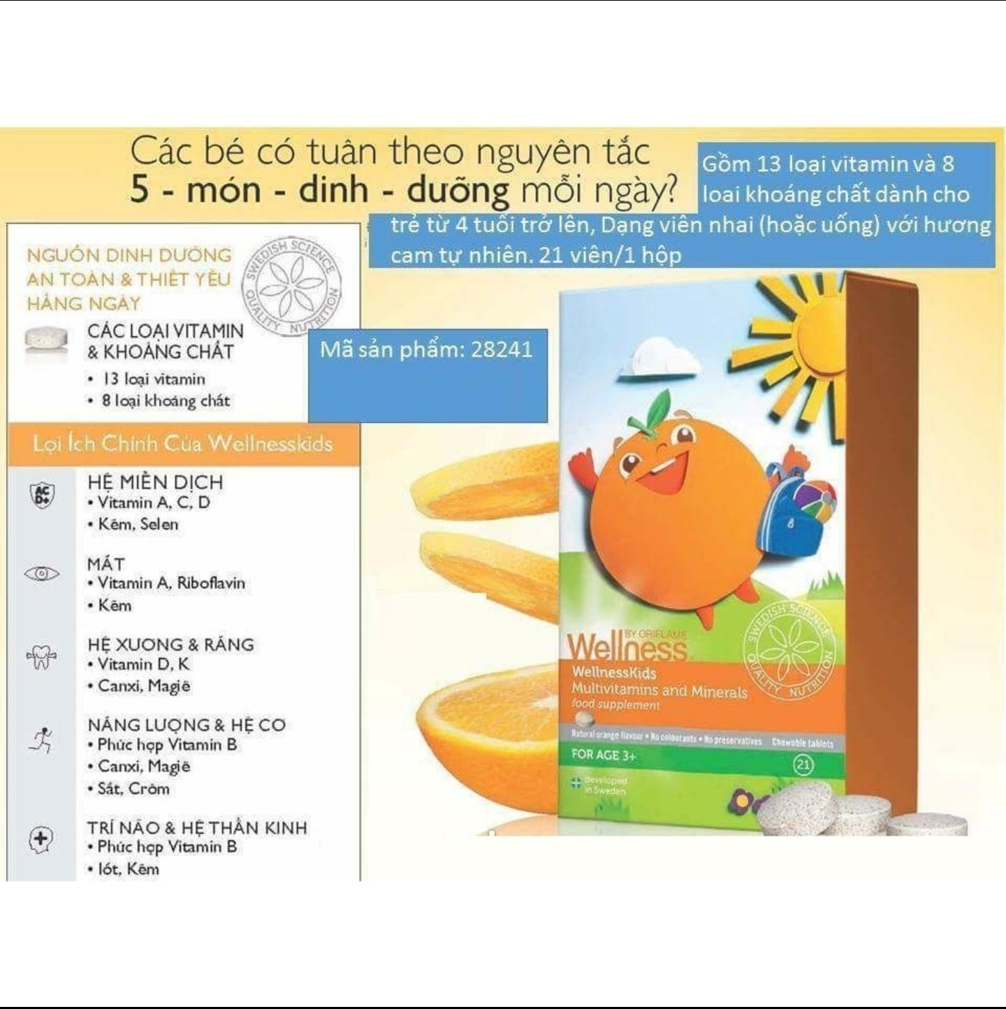 Thực phẩm bảo vệ sức khỏe WellnessKids_ORIFLAME28241