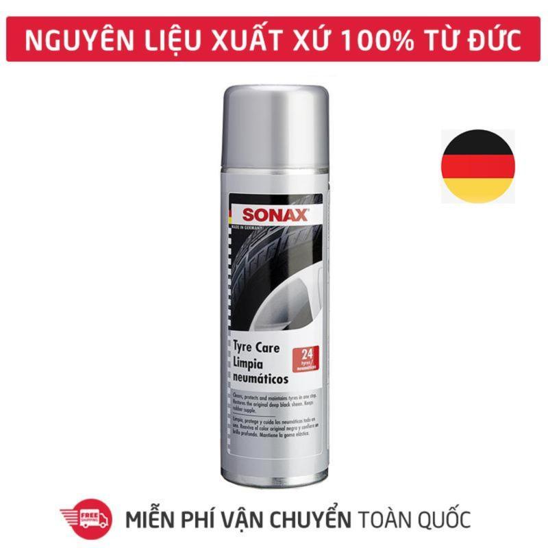 Dung dịch làm sạch và bảo dưỡng lốp xe, ron cao su Sonax Tyre Care, bình xịt tạo bọt vệ sinh, làm bóng phục hồi màu đen lốp xe hơi, ô tô, xe tải, xe khách_SN-435300