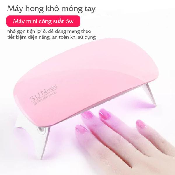 Máy hong khô sơn móng tay SUN mini tiện lợi có đèn led 6W giá rẻ