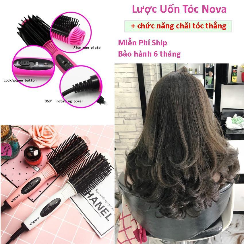 Lược uốn tóc tạo kiểu , Lược điện uốn tóc , Máy uốn tóc mini NOVA , giúp bạn tạo những kiểu tóc xoăn cá tính. Bảo hành 1 đổi 1 uy tín.