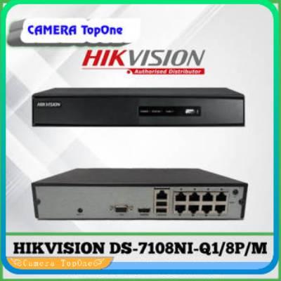 [NHÀ PHÂN PHỐI, BH 2 NĂM, FREESHIP 20K]Đầu ghi IP 8 kênh Hikvision DS-7108NI-Q1/8P/M H.265+ - Hỗ Trợ PoE