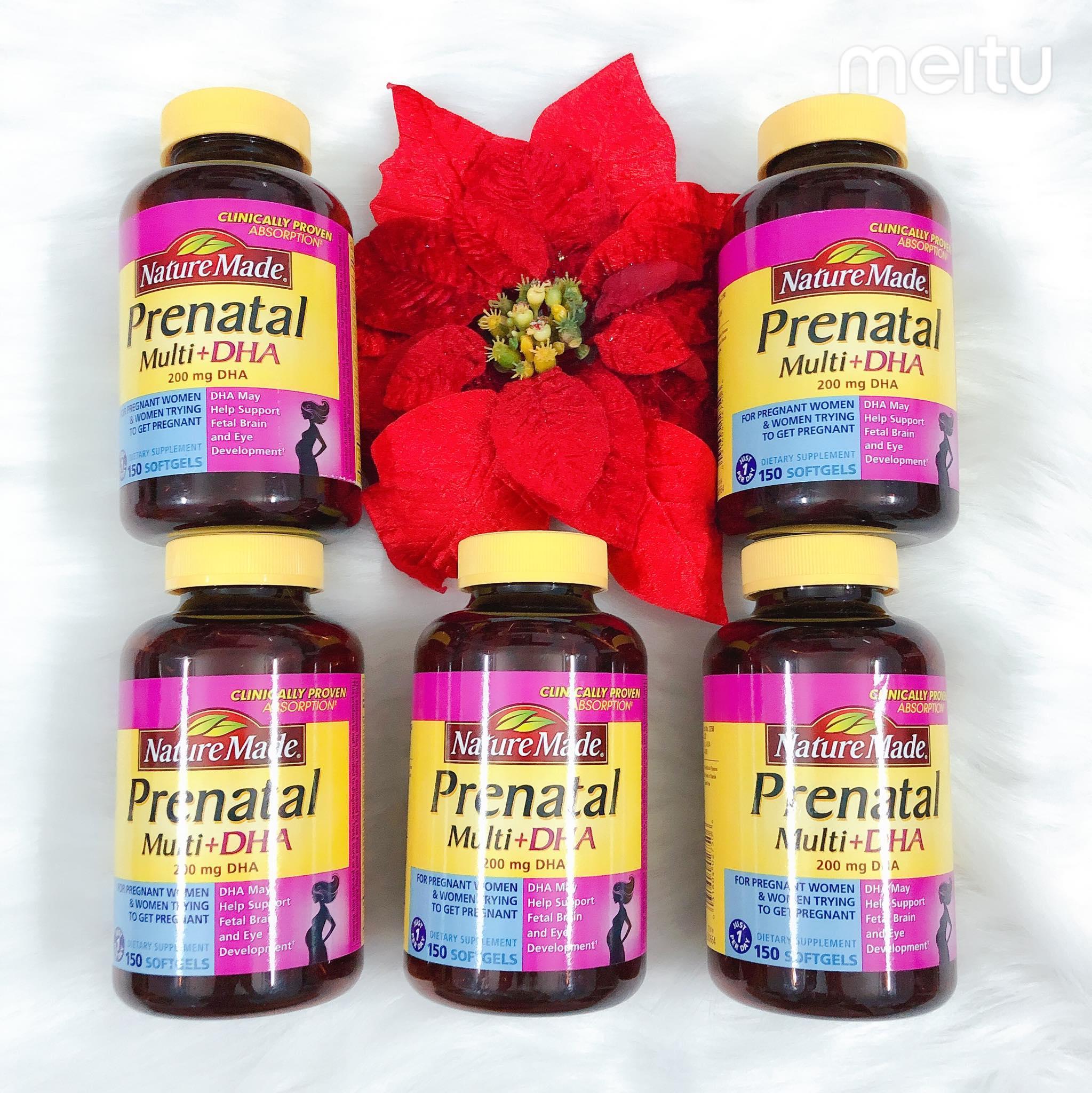 Thuốc bổ  Nature Made Prenatal Multi DHA 150 viên nhập khẩu