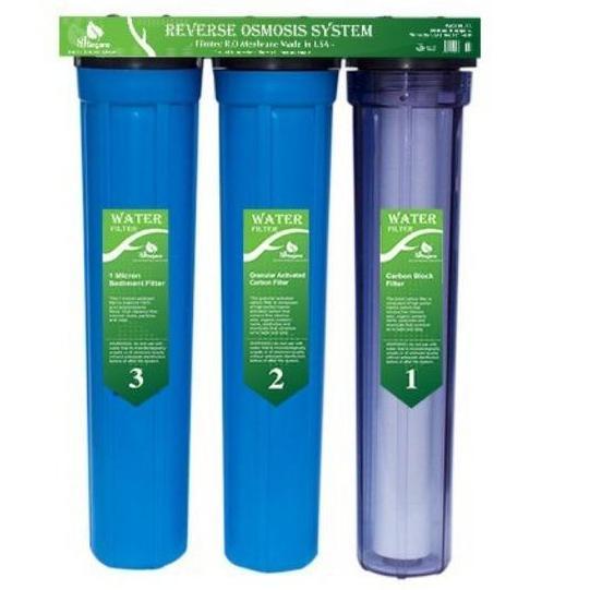 Bộ lọc nước sinh hoạt - Lọc nước thô đầu nguồn 3 cấp ly 20INCH Chuẩn dùng cho gia đình 30axt