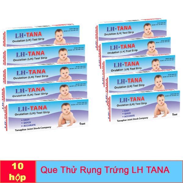 Combo 10 Que Thử rụng trứng Lh Tana Chính hãng - Test nhanh, hiệu quả, chính xác như que thử rụng trứng điện tử. cao cấp