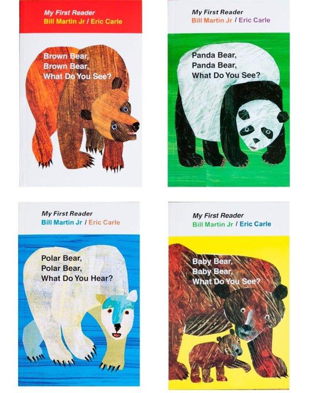 Bộ Sách Brown Bear ( Sách Gốc, In Chất Lượng Cao)-  Bộ 4 Cuốn+File Nghe - Top 100 Sách Hay Nhất Dành Cho Trẻ Em