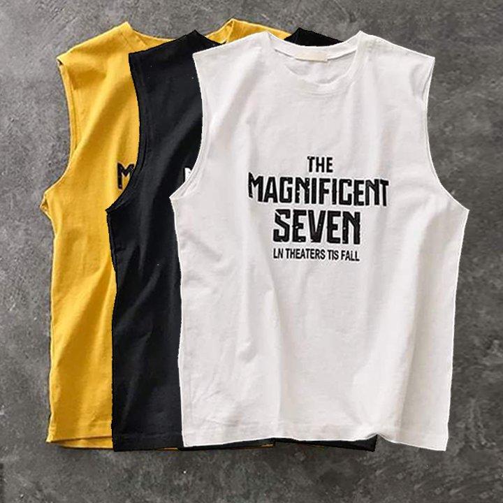 Áo thun ba lỗ nam, tanktop, chuẩn gym mặc nhà dạo phố - In Logo nhiều màu - Thun cotton thoáng mát