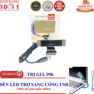 TẶNG Đèn LED USB Trợ Sáng - Webcam cho máy tính, PC, Laptop CM-330G - Webcam học online tại nhà CM-330G thumbnail
