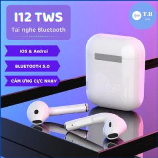 [ KHUYẾN MÃI KHỦNG ] Tai Nghe Bluetooth Tai nghe Không Dây 5.0 i12s TWS, tai nghe Bluetooth i12s Bản Nâng Cấp Chip 5.0, tai nghe dành cho IOS và Android (BẢO HÀNH 12 THÁNG) thumbnail