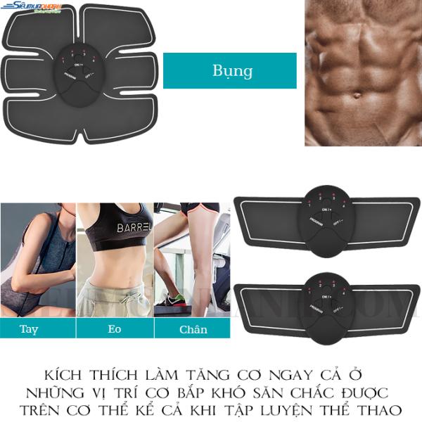 Miếng dán xung điện tập Gym Beauty Body, Máy đánh tan mỡ bụng tốt, May matxa rung, Máy massage giá rẻ 6 múi, may massage thông minh cao cấp