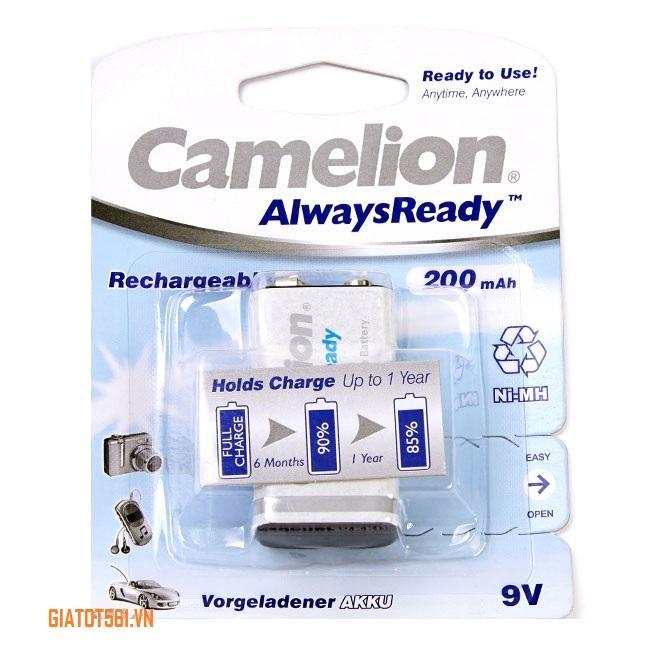 Giá Pin Sạc Camelion 9V 200MAh chuyên dụng cho máy ảnh, thiết bị điều khiển (Trắng) BT81