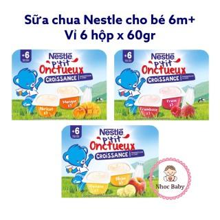 Sữa chua nguội Nestle Pháp cho bé 6m+ vỉ 6h 60gr thumbnail