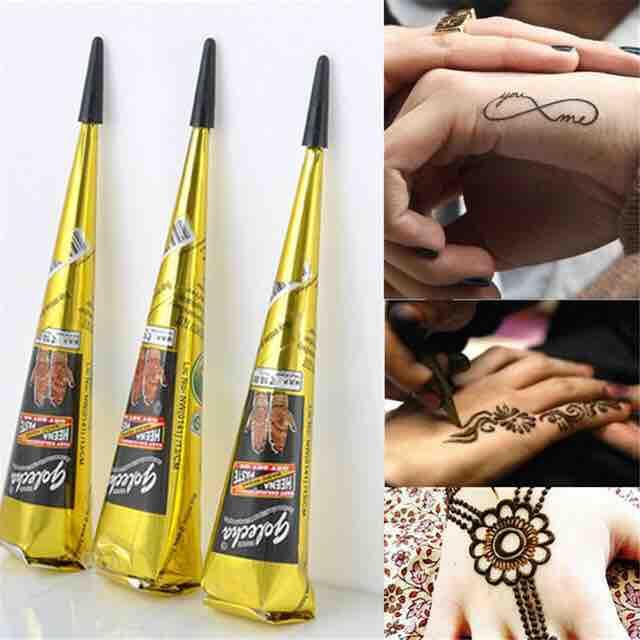 COmBo 3 cây mực xăm henna ấn độ (Tuỳ chọn màu ) tốt nhất