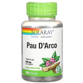 Hỗ trợ ung thư, Solaray Pau D Arco, 550 mg, 100 VegCaps thumbnail