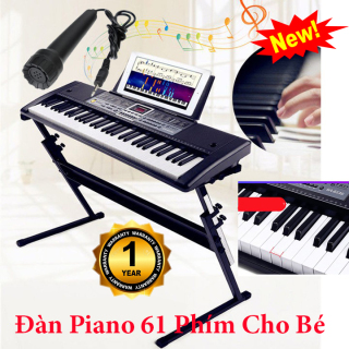 Đàn Piano 61 Phím Tặng kèm Micro Hát - Bé Học Đàn Tại Nhà Phát Triển Tay, Trí Não ,Thuộc Bàn Phím - Đàn Organ Cho Người Lớn Và Trẻ Em - Đàn Kỹ Thuật Số Âm Cực Hay- Bh 12 Tháng thumbnail