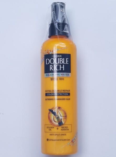 [tóc nhuộm] Xịt Double Rich dưỡng tóc mềm mượt giữ màu nhuộm Balancing Water Nutri Care - Double Rich 250ml (Vàng) cao cấp