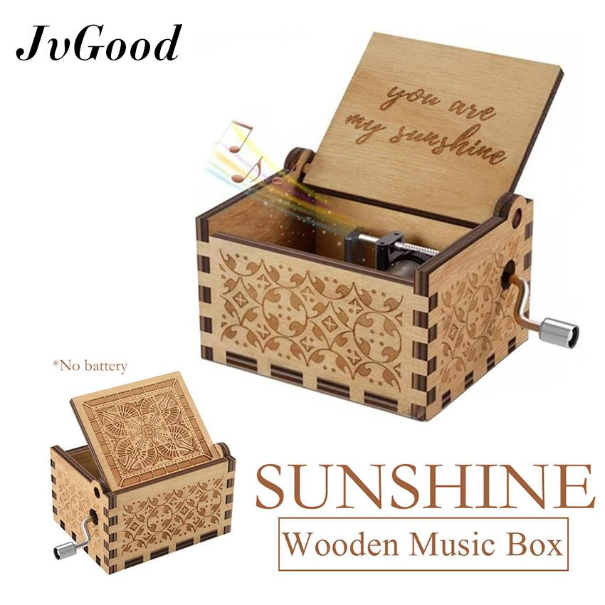 Giá Quá Tốt Để Có JvGood Hộp Nhạc Khắc Hộp Nhạc Gỗ Đồ Chơi Thú Vị Quà Tặng Wood Music Boxes Classic Hand Crank Music Gift Creative Antique Carved Wooden Music Box Crafts Home Retro Ornament Gifts For Birthday/Christmas/Valentine's Day