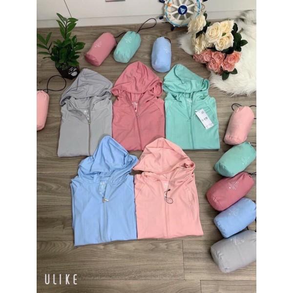 Áo chống nắng thông hơi túi cuộn siêu thoáng khí chất liệu cotton áo thiết kế kiểu dáng thời trang thích hợp làm áo chống nắng hoặc áo khoác ngoài