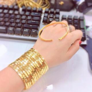 [Khuyến mãi lớn] Bộ vòng ximen 7 chiếc mạ vàng 18K cao cấp, khóa gài JK Silver , vòng ximen bản 4 li khóa gài, giống vàng thật 99% ,cam kết không đen, đeo cực sang chảnh,trang sức nữ vàng, lắc tay nữU.ximen24 thumbnail
