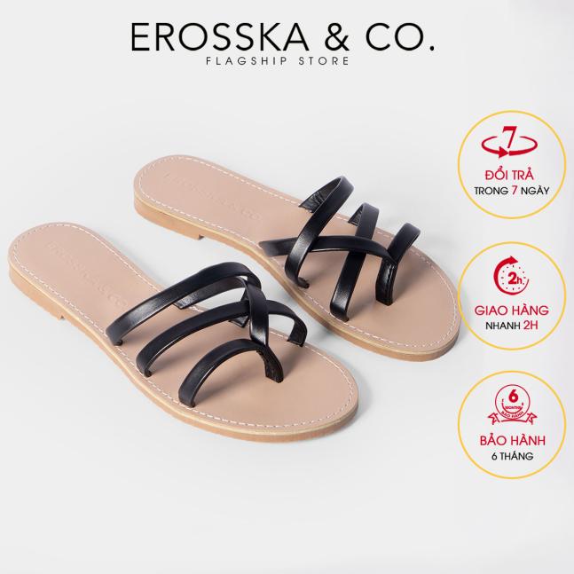 Dép nữ xỏ ngón thời trang Erosska thiết kế phối dây trẻ trung DE031 (BA) giá rẻ