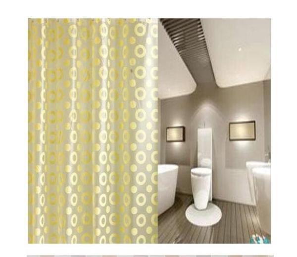 Rèm Phòng Tắm / Rèm Cửa Sổ Họa Tiết Vòng Tròn 180cm X 180cm Loại 1