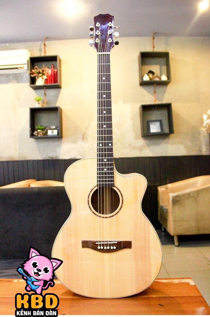 [TẶNG KÈM KHÓA HỌC] Đàn Guitar Acoustic KBD MS 2020 + Pick Gảy , Giáo Trình Online Hướng Dẫn Cho Người Mới Tập Chơi. Giá Quá Ưu Đãi