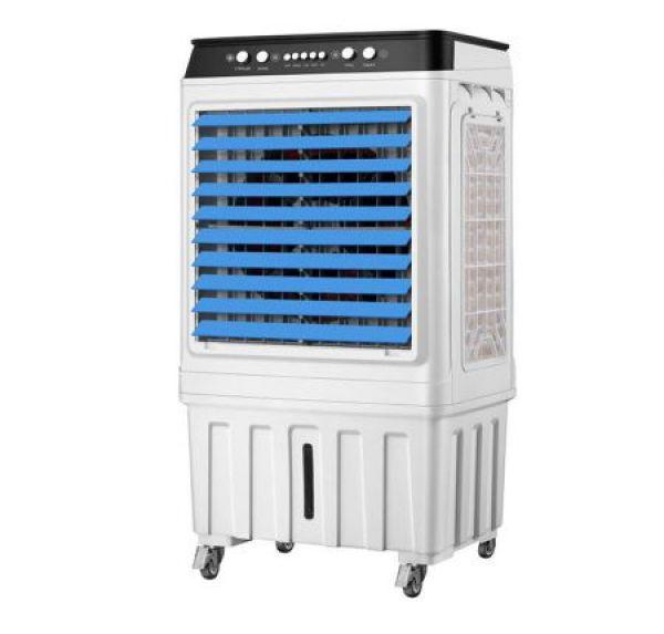 Quạt điều hòa hơi nước Senkio SY 66 mặt kính sang trọng, có thiết bị chống điện giật - Tặng 2 cục đá khô (mẫu mới 2020)
