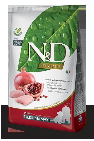 N&D Prime dog chicken Pomegranate Puppy Medium & Maxi 2.5kg