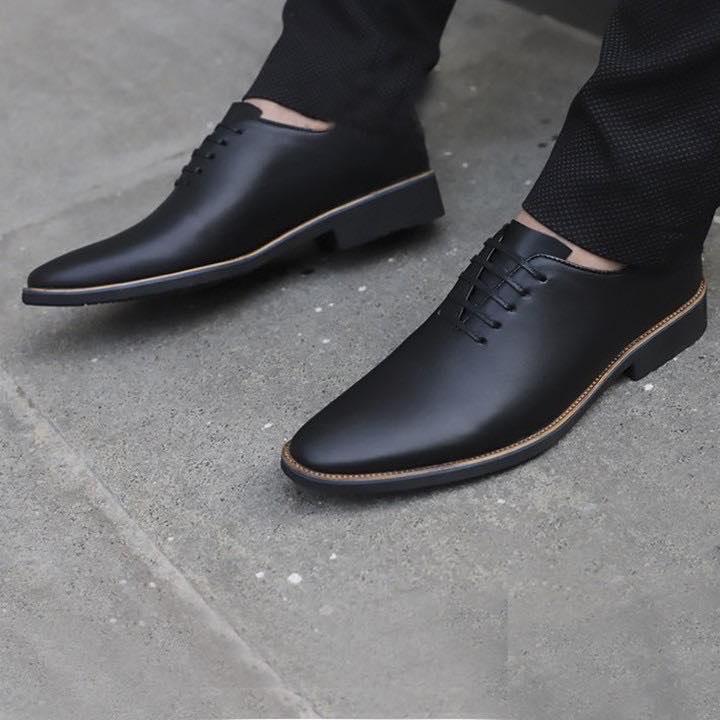 Giày Tây Nam Da Bò Cao Cấp - Giày Công Sở Nam Lịch Lãm CHUNK SHOP ( Bảo Hành 12 Tháng ) Đang Khuyến Mại Khủng