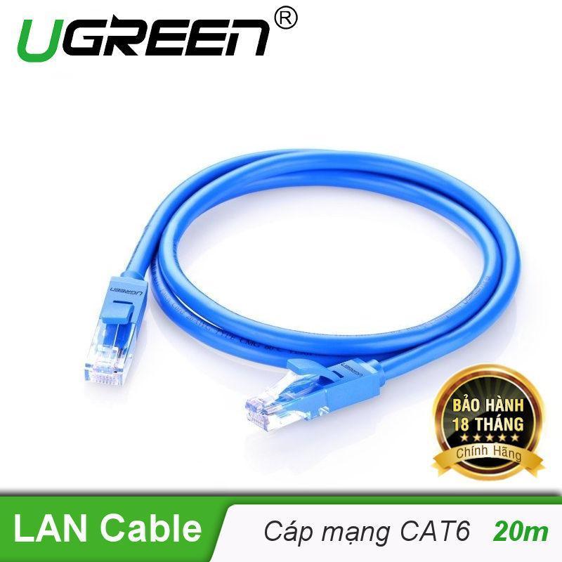 Bảng giá Dây mạng bấm sẵn 2 đầu Cat6 UTP Patch Cords dài 20M UGREEN NW102 11206 - Hãng phân phối chính thức Phong Vũ