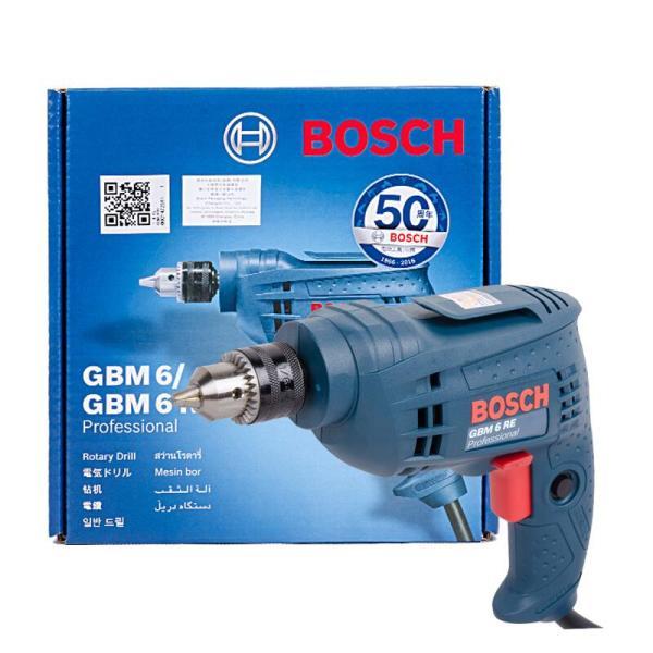 Máy khoan GBM 6 RE Professional - Công suất đầu vào 350W - Tốc độ định mức 3116 vòng/phút