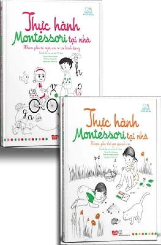 Fahasa - Combo Sách Hay Sách Thực Hành Montessori Tại Nhà (Bộ 2 Tập)